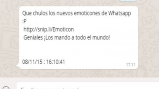 Whatsapp, emoticonos, estafa, campaña spam