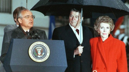 nancy, gorbachov, reagan