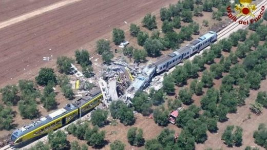 Accidente tren sur italia