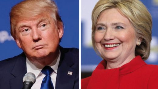 Trump, Clinton, debate, sondeo