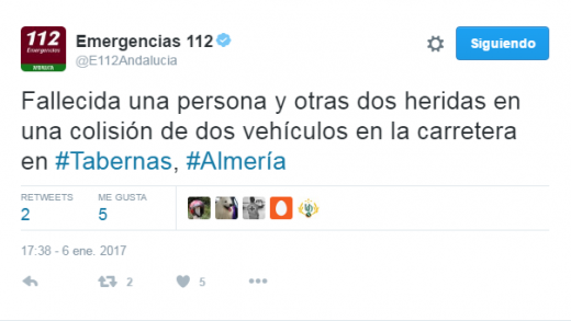 accidente, emergencias, Almería, Tabernas