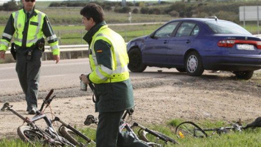 alicante, guardia civil, ciclista, atropello, ebria