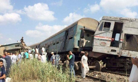 tren, trenes, choque, Egipto, Port Said, Els-Sisi, accidente, estación, Alejandría,