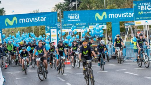 Movistar, bici, fiesta, Madrid